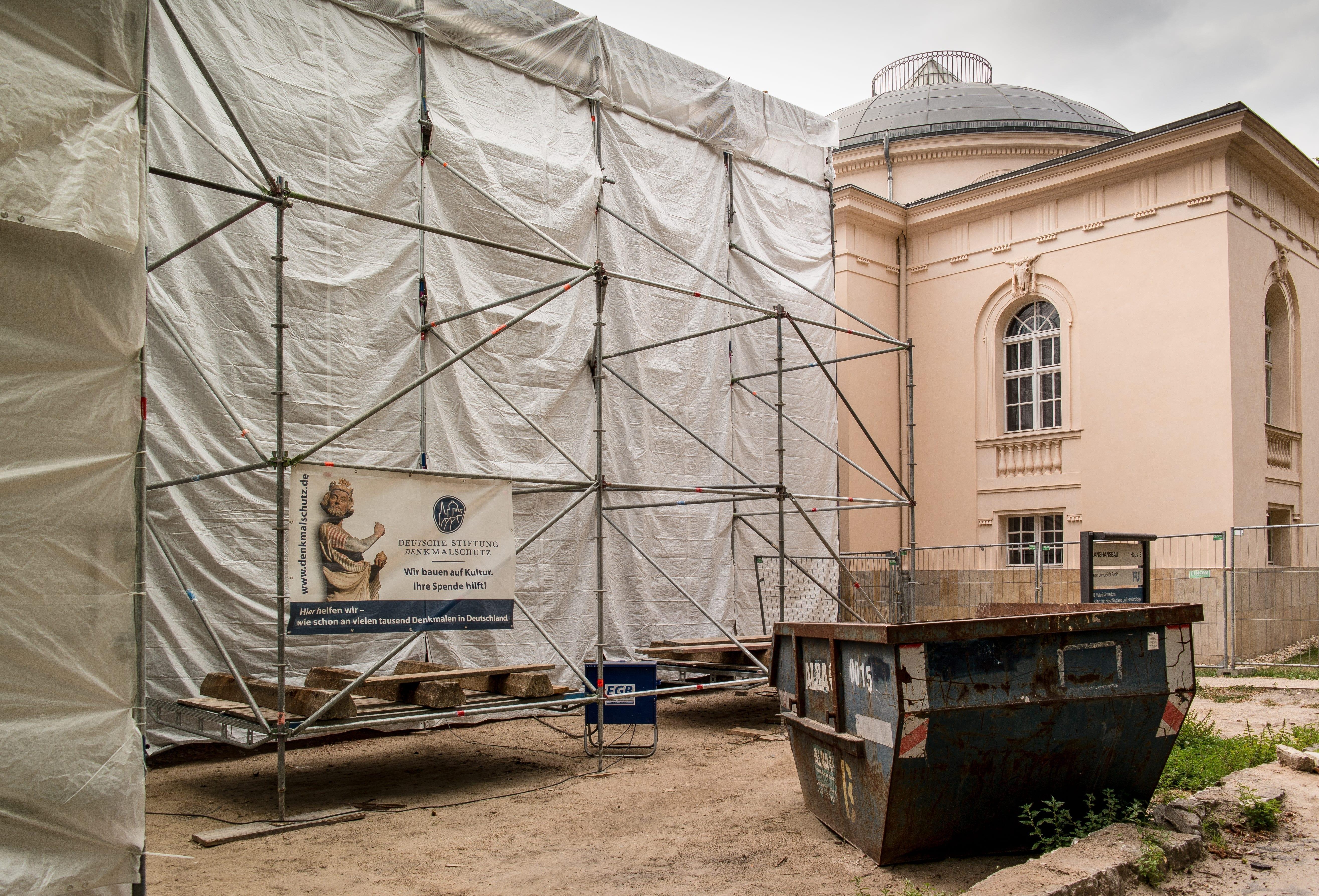 Foto der Baustelle Gerlachbau, 2015