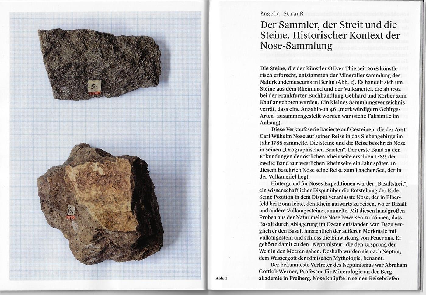 Doppelseite aus Sattler/Thie. 2020. Die Wahrheit über den Ursprung der Welt. Berlin: Humboldt-Universität